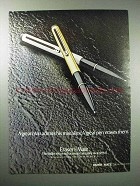 1980 Paper Mate Eraser Mate Pen Ad - Admits Mistakes