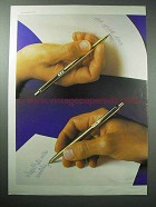 1977 Paper Mate Pen Ad - Even Upside Down