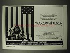 1984 Moscow on the Hudson Movie Ad - Robin Williams