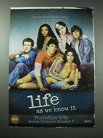 2004 ABC Life As We Know It TV Show Ad
