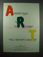 1998 ART Play Ad - A Perfect Play, Very Funny