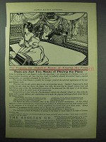 1902 Aeolian Pianola Player Piano Ad - Two Means