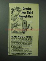 1950 Playskool No. 460 Postal Station Toy Ad