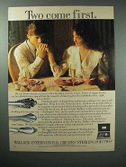 1986 Wallace-International Silver Ad - Sterling for Two