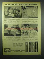 1959 1847 Rogers Bros. Silverware Ad - Casual Living