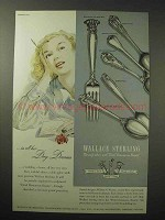 1951 Wallace Silverware Ad - Romance of the Sea +