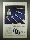 1949 Wallace Silverware Ad - Grand Colonial +