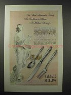 1948 Wallace Sterling Silver Ad - Stradivari
