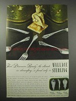 1947 Wallace Silverware Ad - Rose Point, Stradivari +