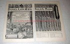 1898 Daniel Low & Co. Silver Silverware Ad