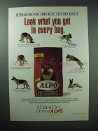 1997 Alpo Dog Food Ad - Look What You Get in Bag