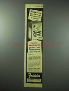 1945 Friskies Dog Food Ad - More Meat Meal Protein
