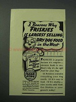 1941 Friskies Dog Food Ad - Largest Selling in The West