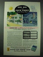 1935 Dutch Boy White-Lead Paint Ad - Old Sol Jack Frost
