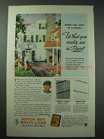 1934 Dutch Boy White-Lead Paint Ad - What You See