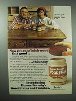 1983 Homer Formby's Wood Stain Ad - Finish this Good