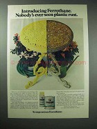 1977 Ferrothane Paint Ad - Nobody's Seen Plastic Rust
