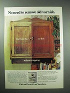 1977 Varathane Stain Ad - No Need to Remove old Varnish