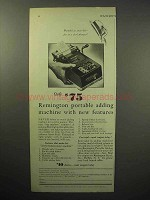 1933 Remington Portable Adding Machine Ad, Features