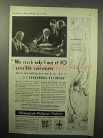 1933 Addressograph-Multigraph Machine Ad - We Reach