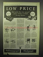 1933 Addressograph-Multigraph Machine Ad - Low Price