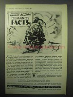 1933 IBM Ad - Quick Action Demands Facts