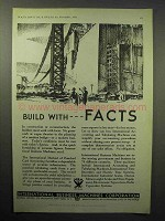 1933 IBM Ad - Build With Facts