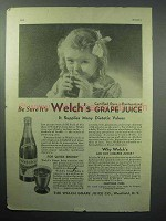 1933 Welch's Grape Juice Ad - Be Sure It's Welch's!