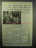 1933 Metropolitan Life Insurance Ad - Your Children