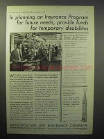 1933 Metropolitan Life Insurance Ad - For Future Needs