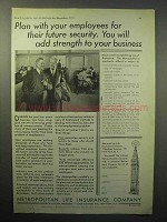 1933 Metropolitan Life Insurance Ad - Plan Employees