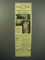 1933 University of Chicago Ad - Summer Study