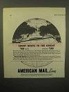 1933 American Mail Line Cruise Ad - To the Orient