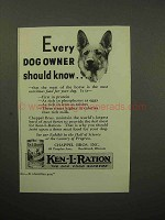 1933 Ken-L-Ration Dog Food Ad - Every Owner