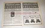 1933 Eveready Prestone Anti-Freeze Ad - Radical
