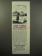 1932 NYK Line Cruise Ad - Low Fares to the Orient