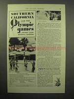 1932 Southern California Tourism Ad - Olympic Games