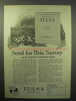 1930 Tulsa Oklahoma Chamber of Commerce Ad - Survey