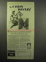 1930 Burlington Route Railroad Ad - The Cody Road