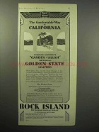 1930 Rock Island Railroad Ad - Comfortable California