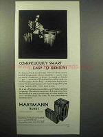 1930 Hartmann Trunks Ad - Conspicuously Smart