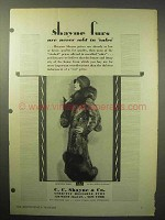 1930 Shanye Furs Ad - Never Sold in Sales