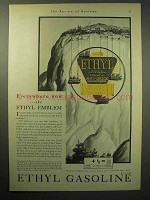 1930 Ethyl Gasoline Ad - Everywhere Now the Emblem