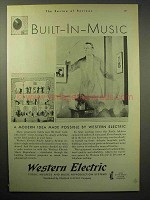 1930 Western Electric Music Reproducer, PA System Ad