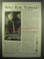 1930 Metropolitan Life Insurance Ad - Why Risk Typhoid