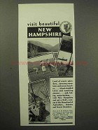 1930 New Hampshire Tourism Ad - Visit Beautiful
