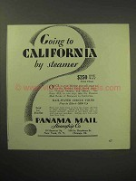 1930 Panama Mail Steamship Co. Ad - To California