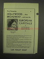 1930 Lux Toilet Soap Ad - Janet Gaynor