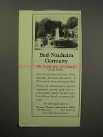 1930 German Tourist Ad - Bad-Nauheim