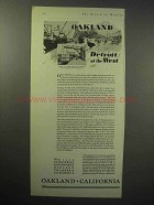 1929 Okland California Chamber of Commerce Ad